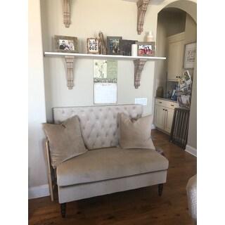 Shop Belleze Modern Loveseat Bench Sofa Tufted Settee High