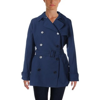 Lauren Ralph Lauren Womens Jacket Double-Breasted Solid