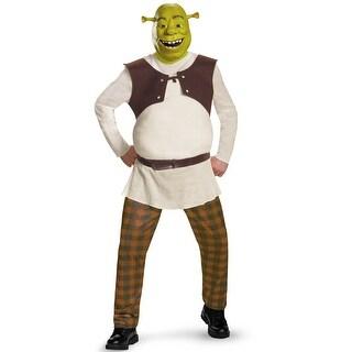 Disguise Shrek Deluxe Adult Costume - Green/brown