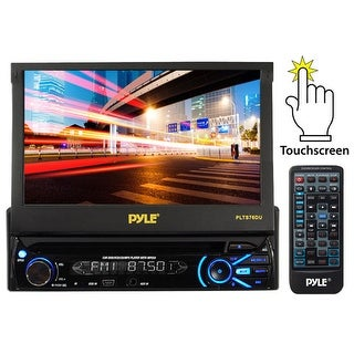 7'' Touch Screen Motorized Detachable TFT/LCD Monitor With DVD/CD/MP3/AM/FM Receiver