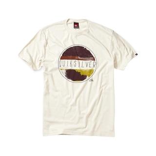 Quiksilver Haze Graphic Crewneck T-Shirt Beige Tee Shirt Large L