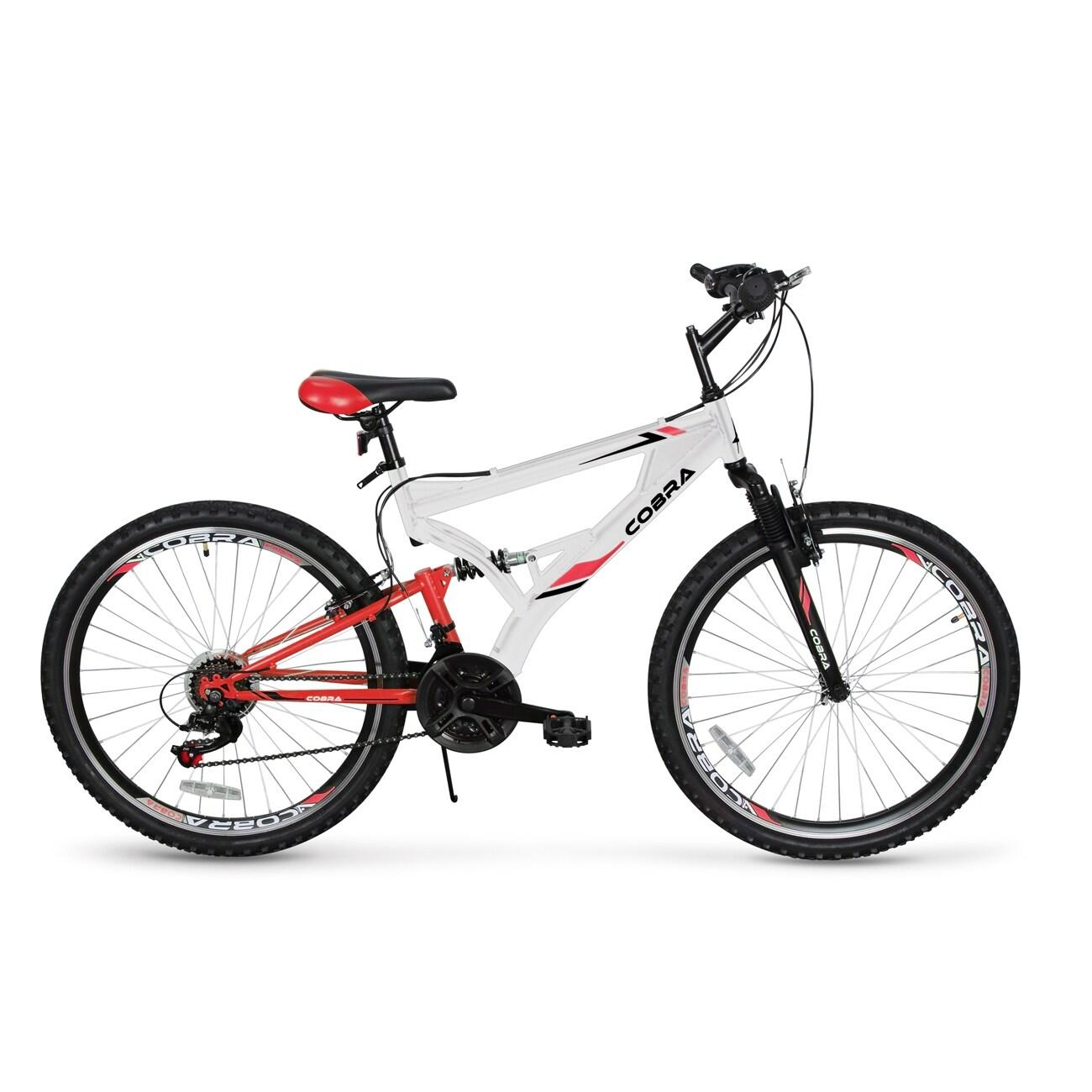 "26/"" Full Suspension Mountain Bicycles 21-Speeds Shimano Shifter Road Bike Medium"
