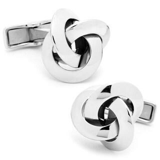 Elegant Sterling Silver Knot Cufflinks