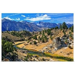 """Eastern Sierra's hot creek, California"" Poster Print"