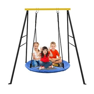 Link to A-Frame Swing Frame Metal Swing Stand with Ground Nail For Backyard (Only Swing Frame) Similar Items in Bicycles, Ride-On Toys & Scooters