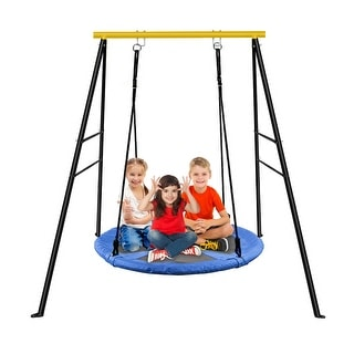 Link to A-Frame Swing Frame Metal Swing Stand with Ground Nail For Backyard (Only Swing Frame) Similar Items in Outdoor Play