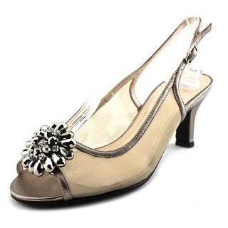 Caparros Savanna Open-Toe Synthetic Slingback Heel
