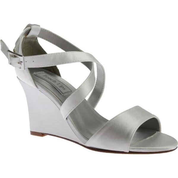 f6982b5bf68b Shop Touch Ups Women s Jenna Wedge Sandal White Satin - Free ...