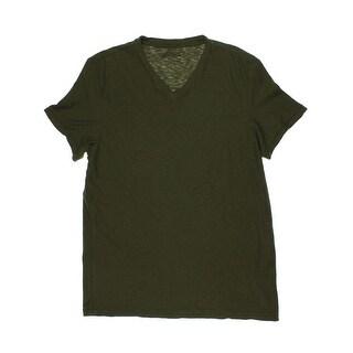 Kenneth Cole Reaction Mens Slub V-Neck T-Shirt
