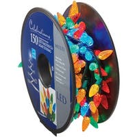 Celebrations 47866-71 LED C6 Faceted Light Bulbs On A Reel, 37', Multi-Color