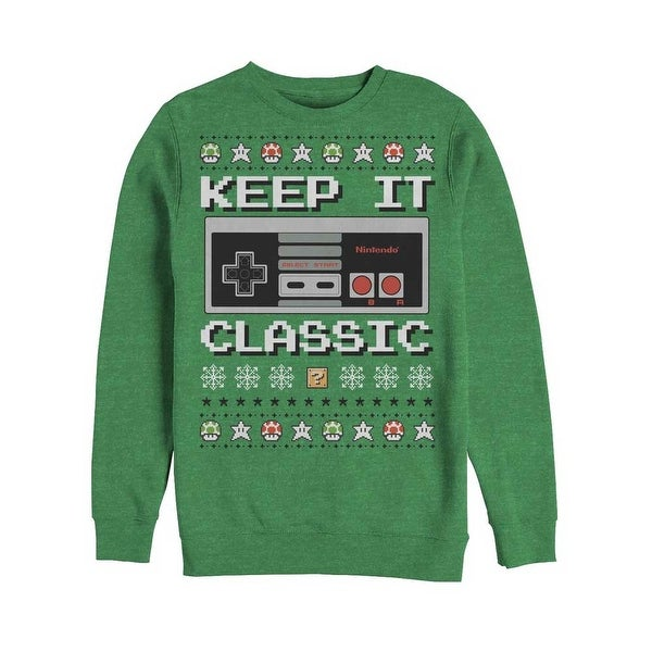 Nintendo Keep it Classic Controller Ugly Christmas Sweater. Opens flyout.