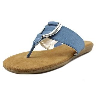 Aerosoles Nice Save Women Open Toe Leather Blue Thong Sandal