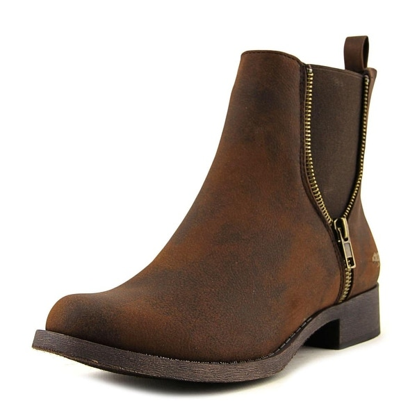 Rocket Dog Camilla Women Round Toe Synthetic Brown Ankle Boot