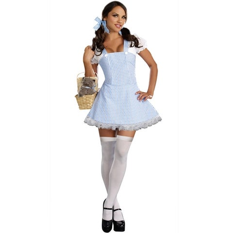 Dreamgirl Blue Gingham Dress Adult Costume