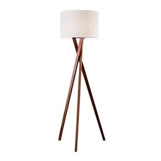 """Adesso 3227 Brooklyn 1 Light 59.25"""" Tall Tripod Floor Lamp with Textured Linen S - Walnut"""