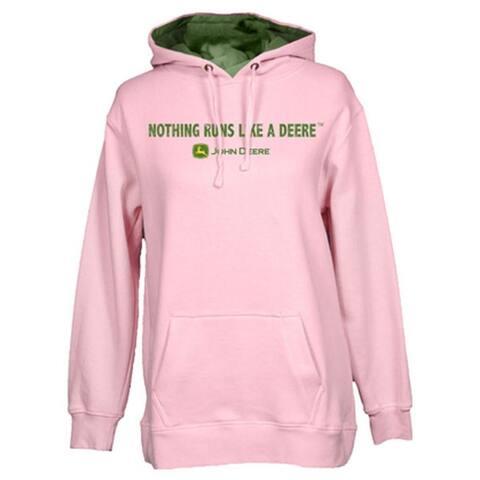 John Deere Western Sweatshirt Womens L/S Fleece Hoodie Logo