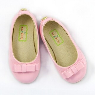 Foxpaws Pink Bow Leather Little Girl Flats Shoe 11-12