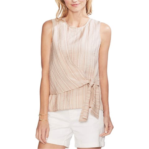 Vince Camuto Womens Tie Front Pullover Blouse