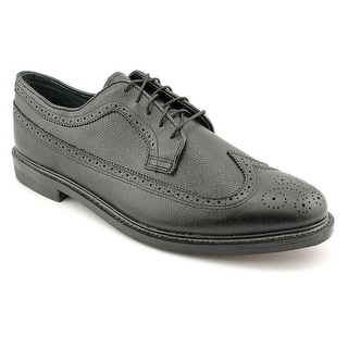 Executive Imperials Black Wingtip Men E Wingtip Toe Leather  Oxford
