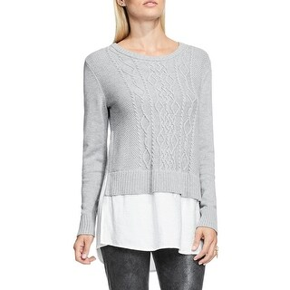 Two by Vince Camuto Womens Pullover Sweater 2 in 1 Cable Knit
