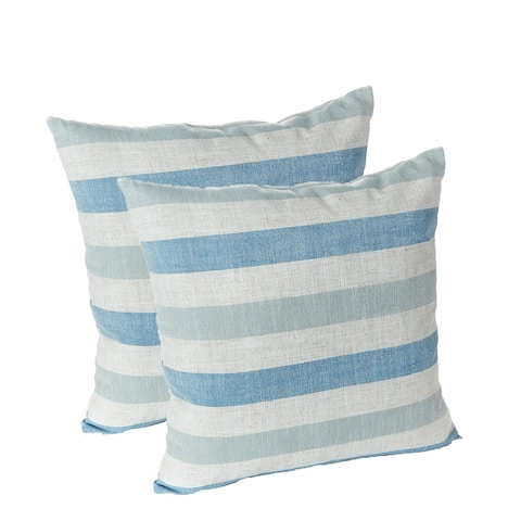 Liza Stripe 18 in. x 18 in. Decorative Throw Pillows, Set of 2