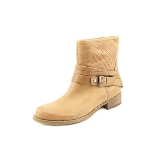 Marc Fisher Womens Rosan Leather Almond Toe Ankle Cowboy Boots