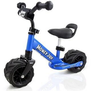 Goplus 6.5'' Kids Balance Bike No Pedal Adjustable Height Wide PU Tire Cycling Training - Blue