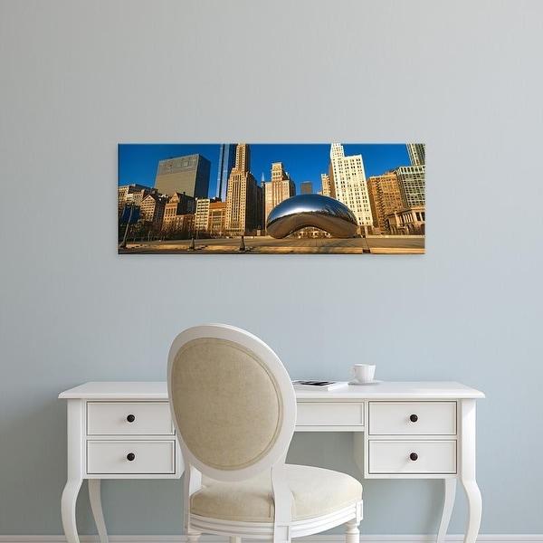 Easy Art Prints Panoramic Images's 'Cloud Gate sculpture , Millennium Park, Chicago, Cook County, Illinois' Canvas Art
