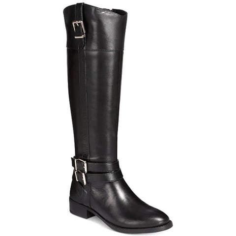 INC International Concepts Womens Frankll Leather Closed Toe Knee High Fashion Boots