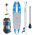 Driftsun SUP Inflatable 10' Stand Up Paddle Board Package. Everything Included: Board, Fins, Paddle, Pump and Carry Backpack - Thumbnail 0