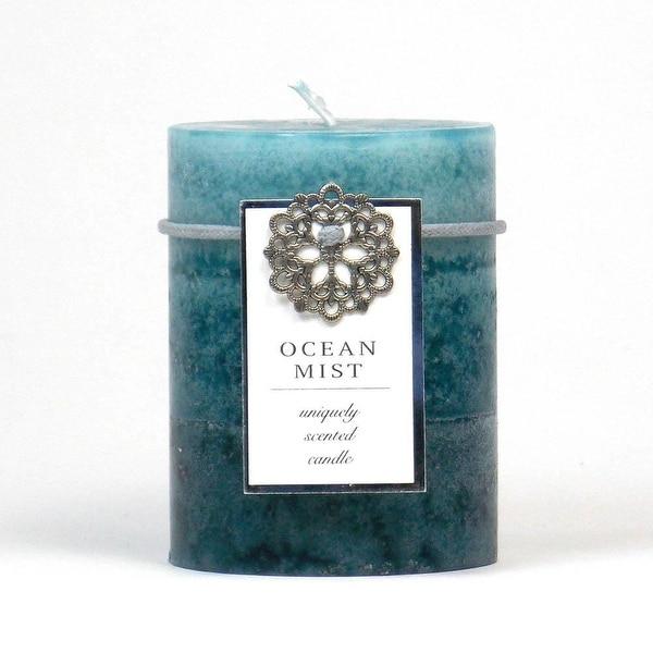Top Sale Ocean Mist Pillar Candle 3X4
