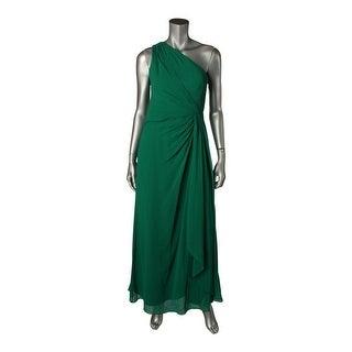Lauren Ralph Lauren Womens Petites Addelston Evening Dress Chiffon One Shoulder