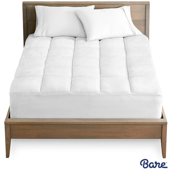 Bare Home Reversible Down Alternative Pillow-Top Mattress Pad - White. Opens flyout.