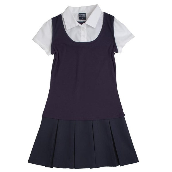 Shop French Toast Girls 4-14 2-in-1 Pleated Dress - Free Shipping On Orders  Over  45 - Overstock - 20602569 86207611c69a