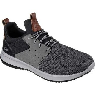 Skechers Men's Delson Camben Slip-On Sneaker Black/Gray