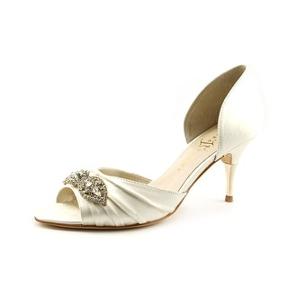 Ivanka Trump Nanci2 Peep-Toe Canvas Heels