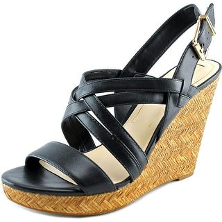 Jessica Simpson Julita Women Open Toe Synthetic Black Wedge Heel