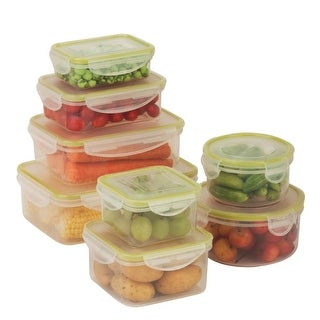 Honey-Can-Do KCH-03828 16 Piece Variety Plastic Food Storage Set
