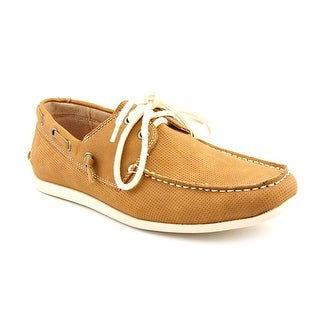 Madden Men Game On Men  Moc Toe Leather Brown Boat Shoe