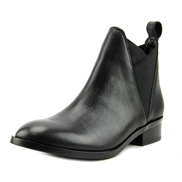 Aldo Scotch Women Round Toe Leather Black Ankle Boot