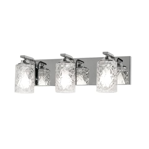 AFX Annabel 3-Light Polished Chrome Vanity with Clear Glass