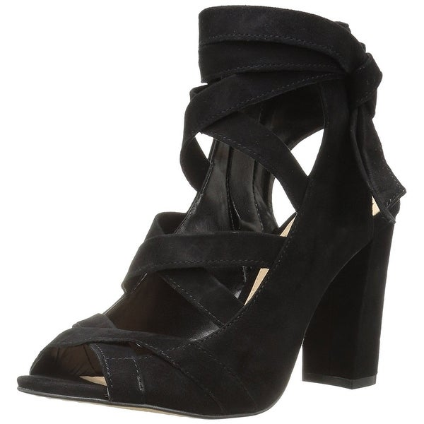 Vince Camuto Womens Sammson Leather Open Toe Casual Strappy Sandals