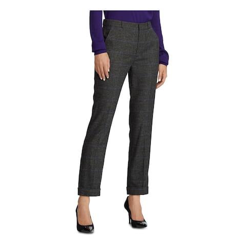 RALPH LAUREN Gray Straight leg Pants Size 6
