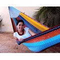 Sunnydaze Multi-Colored Mayan Hammock - Thumbnail 1