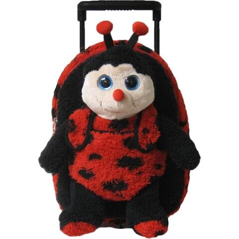 Kreative Kids Girls Black Red Lady Bug Plush Roller - One size