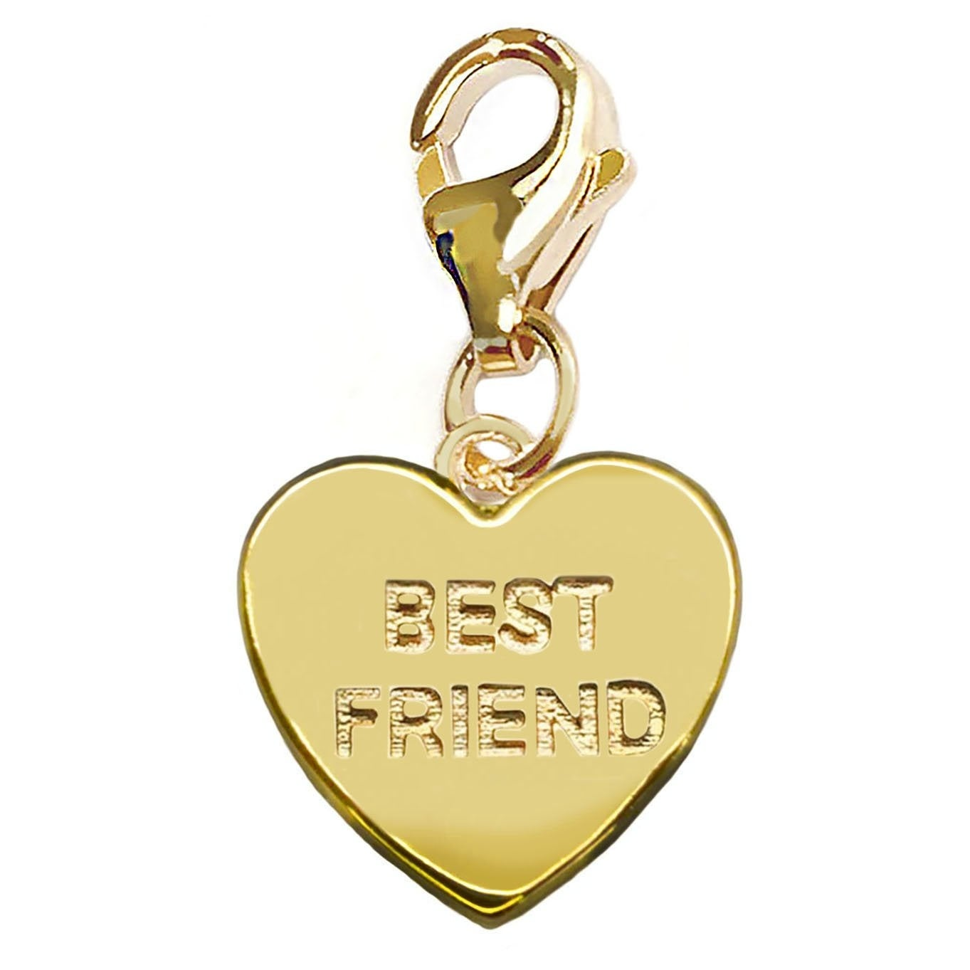 Julieta Jewelry 'Best Friends' Heart Plate Clip-On Charm - Thumbnail 0