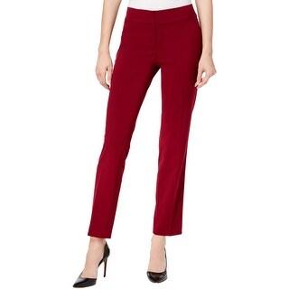 Nine West Womens Straight Leg Pants Office Wear Flat Front