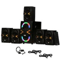 Acoustic Audio AA5210 Home 5.1 Speaker System Bluetooth Optical In 4 Ext. Cables