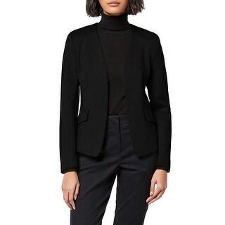 Link to MERAKI Women's Collarless Stretch Jersey Comfort Blazer,  Black, XS (US 0-2) Similar Items in Suits & Suit Separates