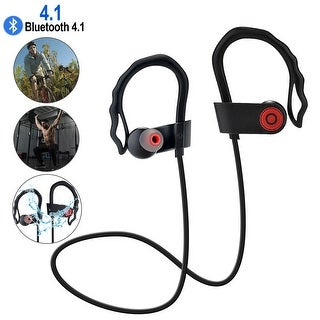 AGPtek Waterproof Bluetooth Earbuds Beats Sports Wireless Headphones Stay in Ear Design